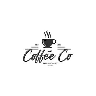 Винтажные кофе логотип значки фондовой вектор