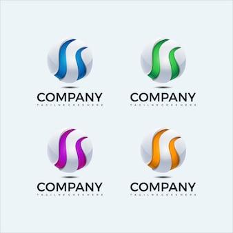 抽象的な球のロゴデザインテンプレートです。グローバルアイコン。ビジネス、コンサルティング、テクノロジー、科学など