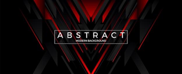 抽象的な幾何学的なラインの赤と黒の背景