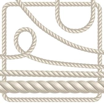 さまざまな形のロープ