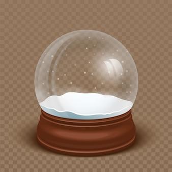 Реалистичный снежный шар
