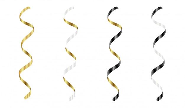 Золотые, серебряные, белые, черные стримеры установлены.