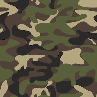 テクスチャのミリタリー迷彩はシームレスなアーミーグリーンの狩猟を繰り返します。