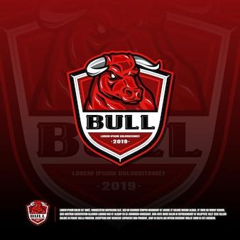 Шаблон логотипа спортивной команды буйволов быков