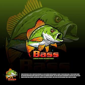 魚チームのロゴのテンプレート