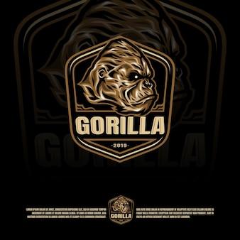 Шаблон логотипа гориллы