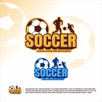 Шаблон логотипа футбола