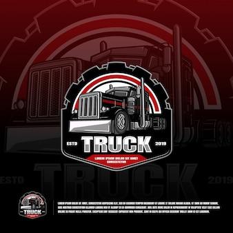 Шаблон логотипа спортивной команды грузовика