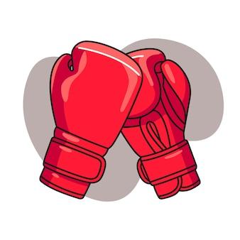 Иллюстрация боксерских перчаток