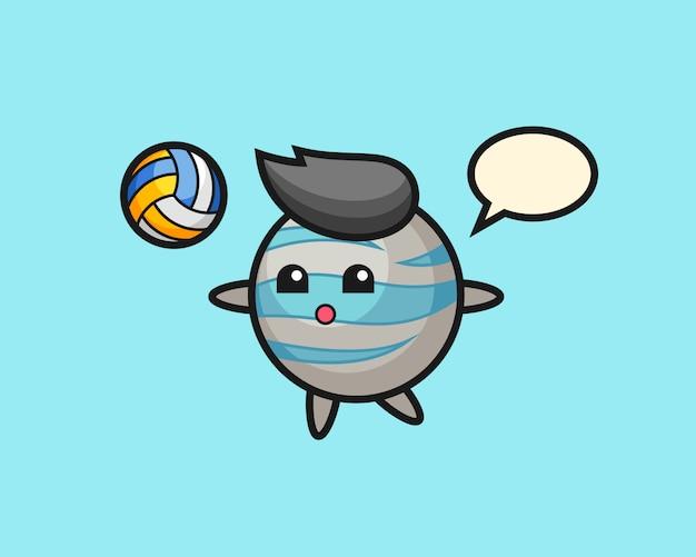 Мультфильм планета играет в волейбол
