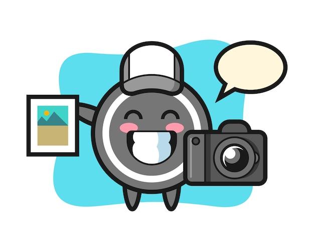 写真家としてのホッケーパックの漫画