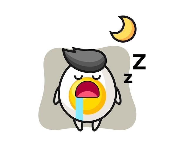 Иллюстрация характера вареного яйца спать ночью