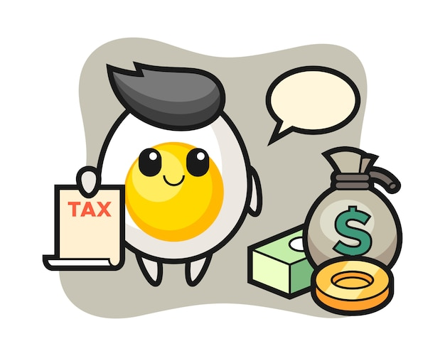 会計士としてのゆで卵のキャラクター漫画