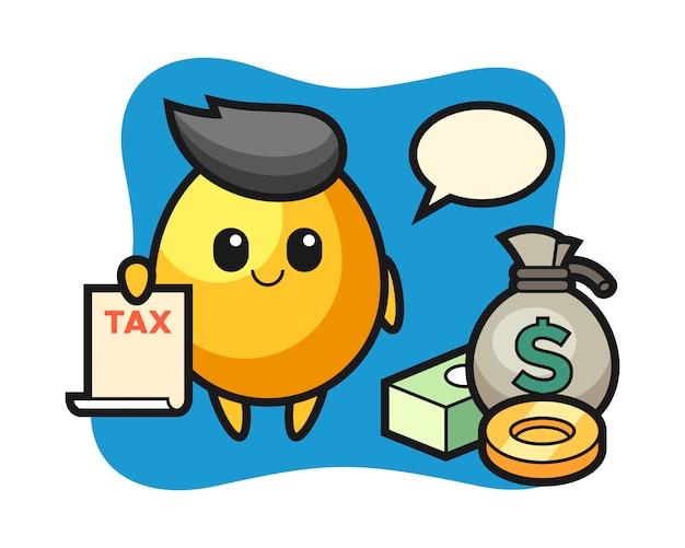 会計士、かわいいスタイルのデザインとしての黄金の卵のキャラクター漫画
