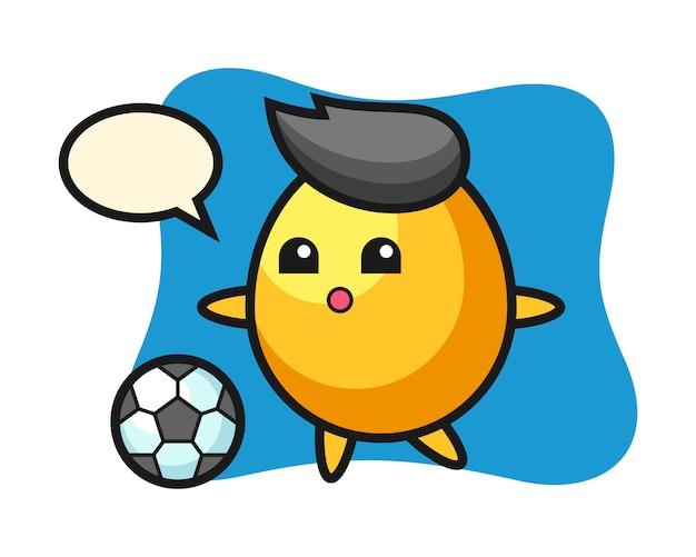 黄金の卵漫画のイラストはサッカー、かわいいスタイルのデザインを遊んでいます