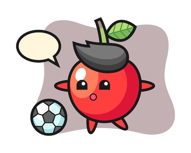 桜漫画のイラストはサッカー、かわいいスタイルのデザインを遊んでいます