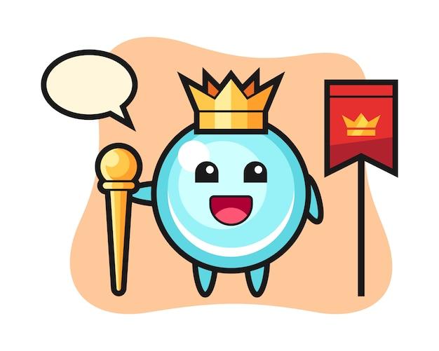 王様、かわいいスタイルのデザインとしてバブルのマスコット漫画
