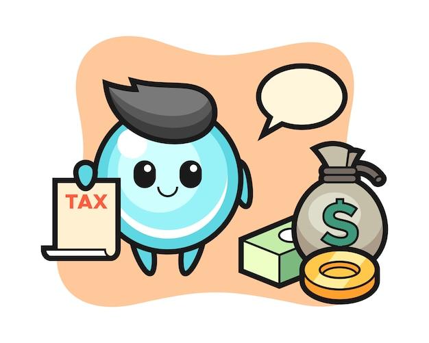 会計士としてのバブルのキャラクター漫画、キュートなスタイルデザイン
