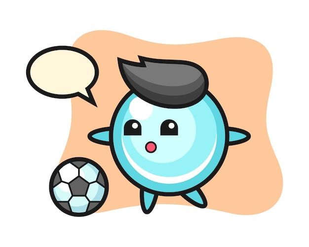 バブル漫画のイラストはサッカー、かわいいスタイルのデザインを遊んでいます