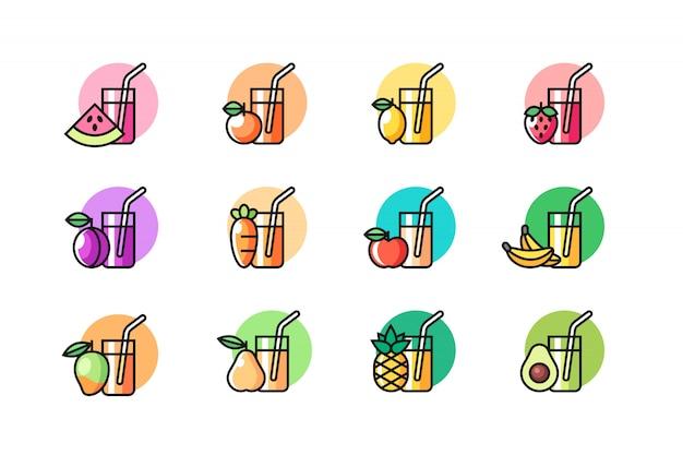 Набор иконок сока