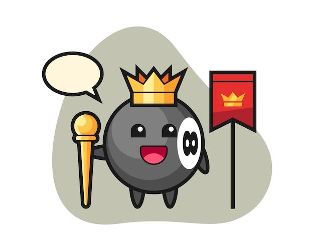 Восемь шаров бильярдный мультяшный король
