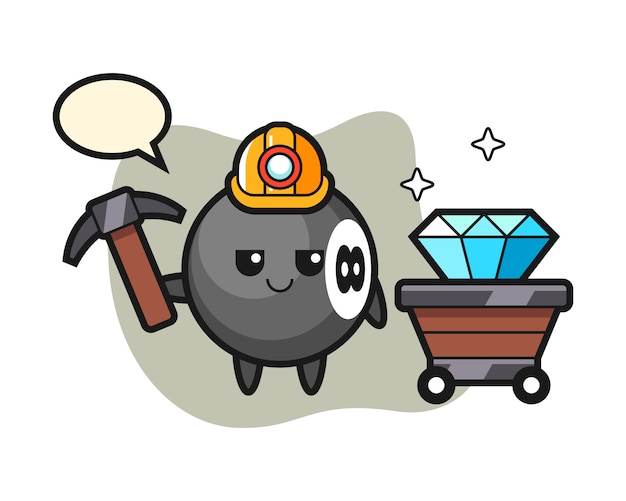 Восемь шаров бильярдный мультфильм как шахтер