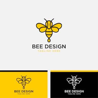 マルハナバチのロゴのテンプレートイラスト