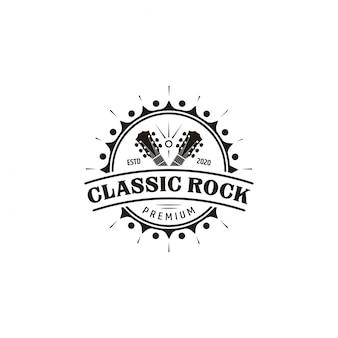 Классическая рок гитара эмблема логотип