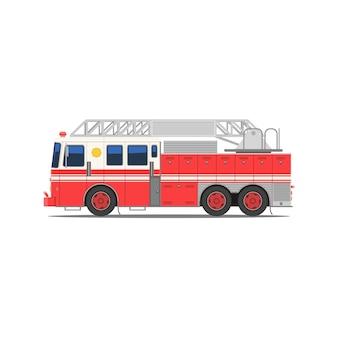 Пожарная машина вид сбоку