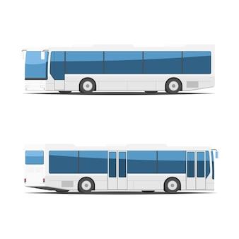 Городской автобус с разных сторон