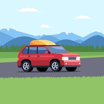 車で旅行する