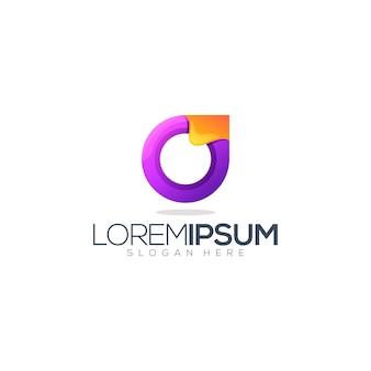 Буква о абстрактный логотип
