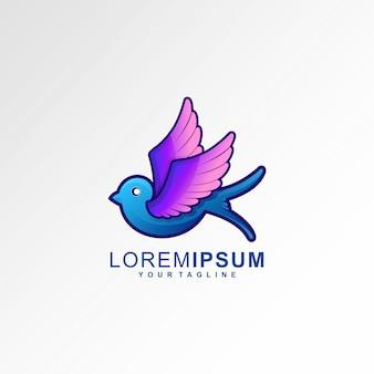 Логотип ласточка птица