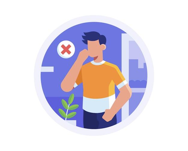 Избегайте передачи коронавируса, не касаясь лица руками