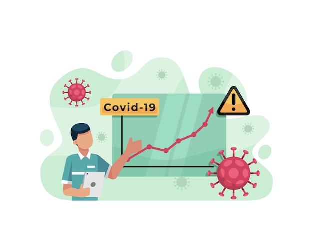 Ведущий новостей сообщает об увеличении числа случаев пандемии коронавируса