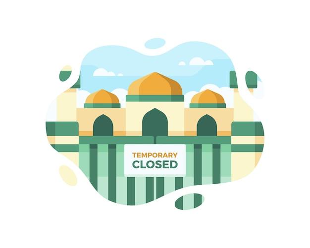 コロナウイルスのパンデミックの間、モスクは一時的に閉鎖されました