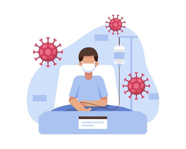 Позитивный пациент, пораженный коронавирусом, лечился и помещался на карантин в больнице