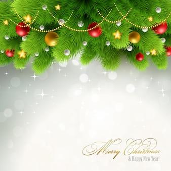 Рождественская иллюстрация фона.