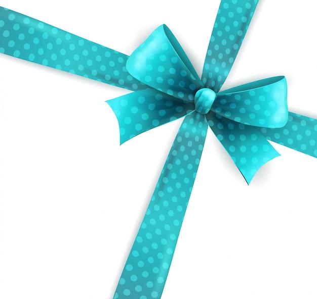 青い水玉の弓