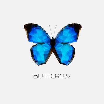 ベクトル抽象的な蝶のシンボル