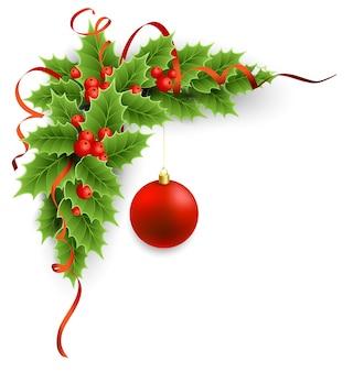 ベクトルクリスマスヒイラギの果実。