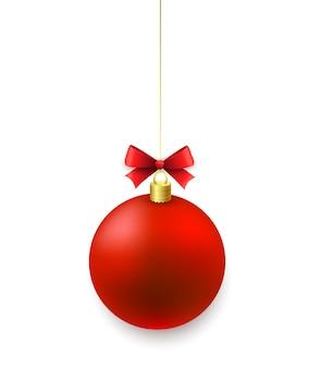 白のクリスマスボール