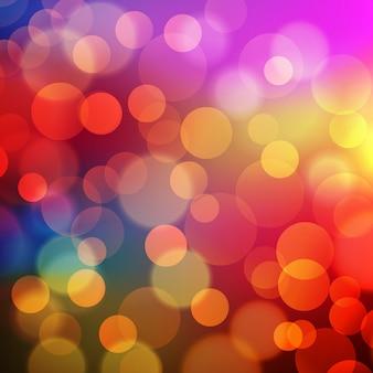 ピンぼけ効果と抽象的な黄金の休日の背景