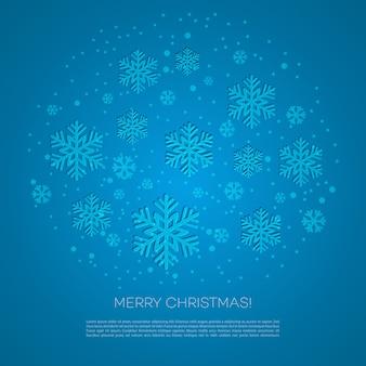 雪のメリークリスマスのグリーティングカード