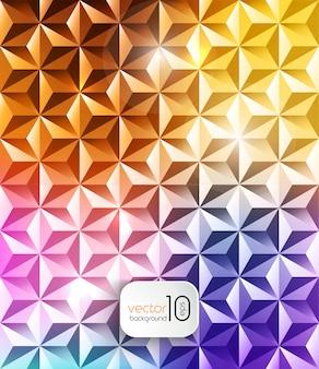 抽象的な幾何学的な多角形の光沢のある背景