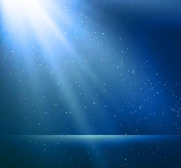 Абстрактный волшебный синий светлый фон