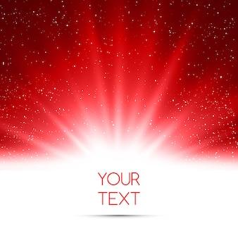 Абстрактный волшебный красный светлый фон