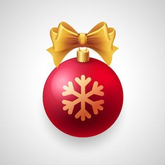 白地に赤い安物の宝石とゴールドリボン