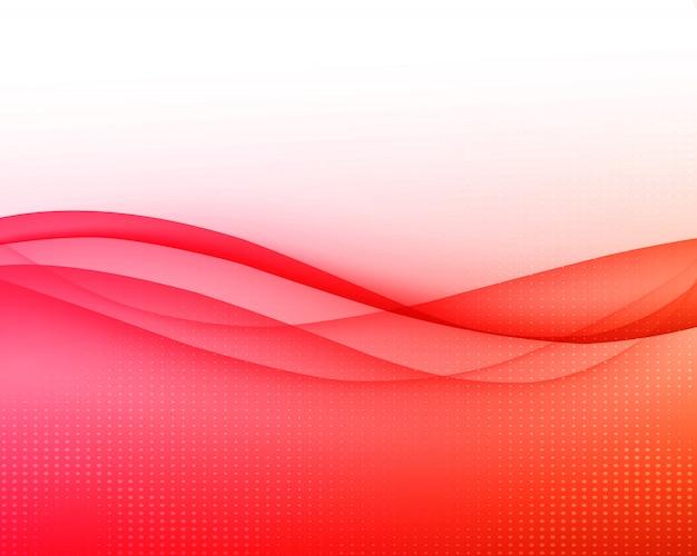 Абстрактный фон изогнутые красные линии.