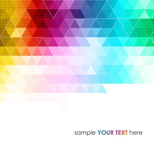 Абстрактный красочный геометрический фон